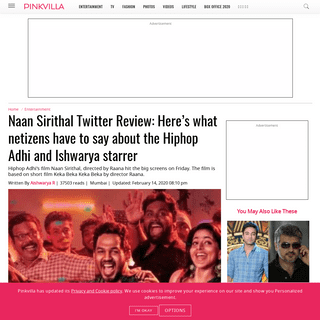 ArchiveBay.com - www.pinkvilla.com/entertainment/south/naan-sirithal-twitter-review-here-s-what-netizens-have-say-about-hiphop-adhi-and-ishwarya-starrer-507687 - Naan Sirithal Twitter Review- Here's what netizens have to say about the Hiphop Adhi and Ishwarya starrer - PINKVILLA