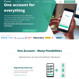 Verimi - One account for everything