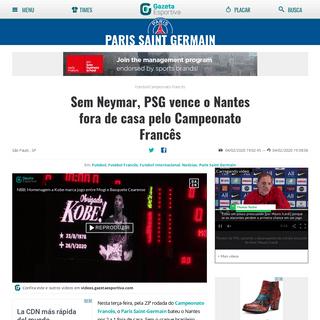 Sem Neymar, PSG vence o Nantes fora de casa pelo Campeonato Francês - Gazeta Esportiva