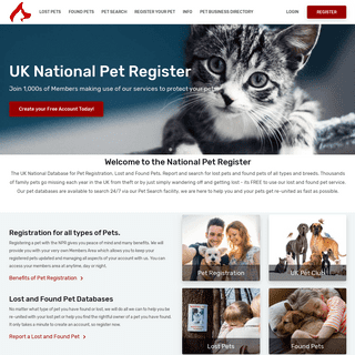 ArchiveBay.com - nationalpetregister.org - National Pet Register Lost and Found Pet Search UK