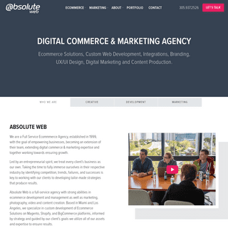 Web Design, Development & Ecommerce Agency - Absolute Web