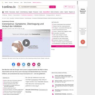 Coronavirus in Deutschland- Symptome, Verlauf und Ansteckung der Krankheit