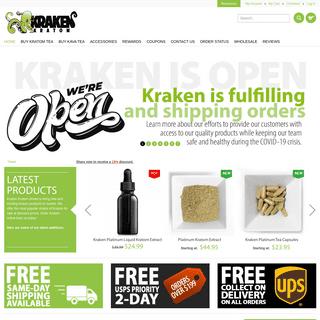 Buy Kratom Extract & Powder Online - FREE SHIPPING - Kraken Kratom