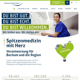 Startseite - Katholisches Klinikum Bochum