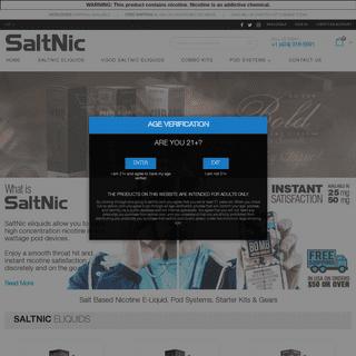 Buy Salt Nic Juice With High Nicotine - Salt Nic Based Eliquid - SaltNic Vape Juice