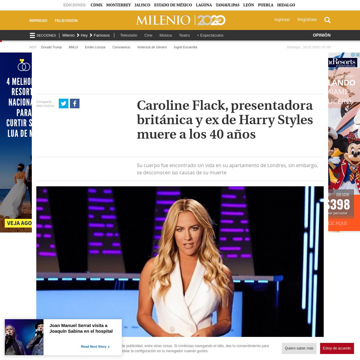 Caroline Flack- muere la presentadora británica y ex de Harry Styles