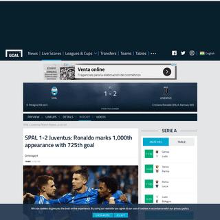 SPAL v Juventus Match Report, 22-02-20, Serie A - Goal.com