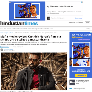 ArchiveBay.com - www.hindustantimes.com/regional-movies/mafia-movie-review-karthick-naren-s-film-is-a-smart-ultra-stylized-gangster-drama/story-WimpDKDuh9xLsIoa7CJbMI.html - Mafia movie review- Karthick Naren's film is a smart, ultra-stylized gangster drama - regional movies - Hindustan Times