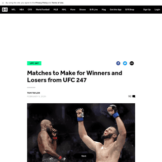 Matches to Make for Winners and Losers from UFC 247 - Bleacher Report - Latest News, Videos and Highlights