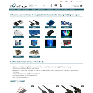 Com-Tra.de - PC Computer Kabel Adapter Lüfter Kühler Kühlung Mauspads eSports