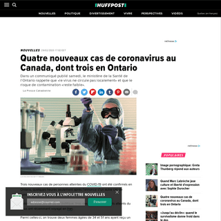 ArchiveBay.com - quebec.huffingtonpost.ca/entry/quatre-nouveaux-cas-coronavirus-canada-dont-trois-ontario_qc_5e5adacbc5b601022111c2d1 - Quatre nouveaux cas de coronavirus au Canada, dont trois en Ontario - HuffPost Québec