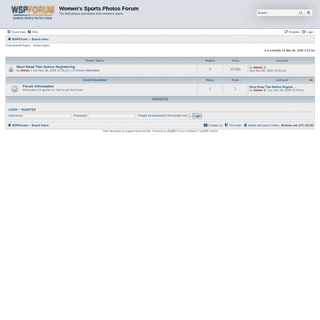Women's Sports Photos Forum - Index page