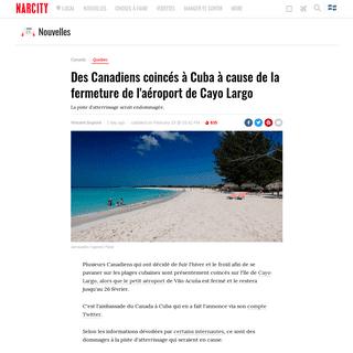 Fermeture de l'aéroport de Cayo Largo- Des voyageurs canadiens coincés à Cuba - Narcity