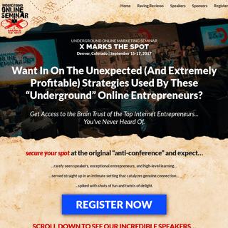 Underground Online Marketing Seminar - X Marks the Spot
