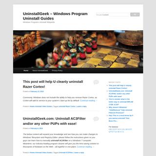 UninstallGeek - Windows Program Uninstall Guides - Windows Programs Uninstall WikipediaUninstallGeek – Windows Program Uninsta