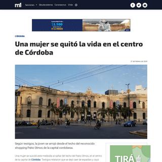 ArchiveBay.com - www.minutouno.com/notas/5084357-una-mujer-se-quito-la-vida-el-centro-cordoba - Una mujer se quitó la vida en el centro de Córdoba - Córdoba