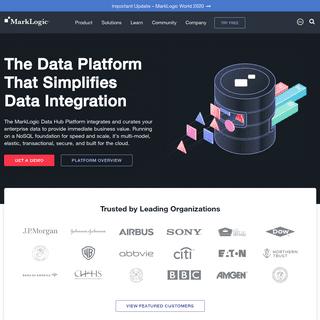 MarkLogic - Data Integration and Data Management Platform