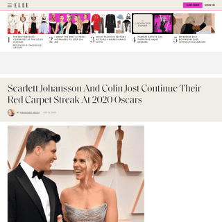 Scarlett Johansson and Colin Jost Show PDA on the Oscars Red Carpet
