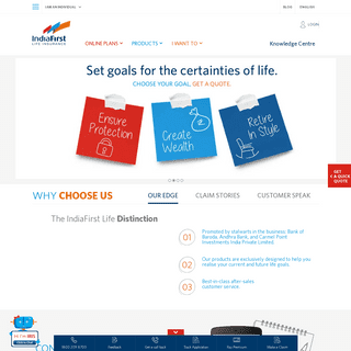 IndiaFirst Life Insurance - Life Insurance Policy & Plans in India