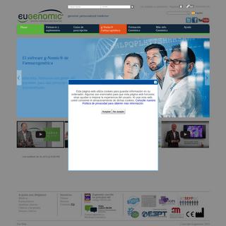 Eugenomic - Genómica. Software Farmacogenética. Farmacogenómica. Medicina Genómica. g-Nomic. Interacciones fármacos