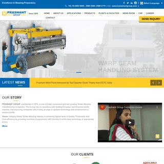 Textile Machine - Sectional Warping Machine, Sectional Warper, Sizing Machine, Narrow Fabric Machines, Warp Beam Trolley
