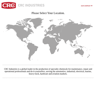 Global Home - CRC Industries - Global Supplier of Chemical Specialty Products