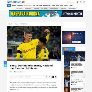 ArchiveBay.com - www.medcom.id/bola/liga-jerman/ob30nAmk-bantu-dortmund-menang-haaland-dan-sancho-ukir-rekor - Bantu Dortmund Menang, Haaland dan Sancho Ukir Rekor - Medcom.id