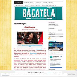 SITIO BAGATELA - Medio alternativo virtual certificado por IDPAC, con 16 años en Internet.