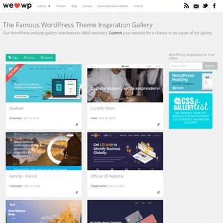 Best WordPress Site Design Inspiration - Blogs & Themes - WeLoveWP