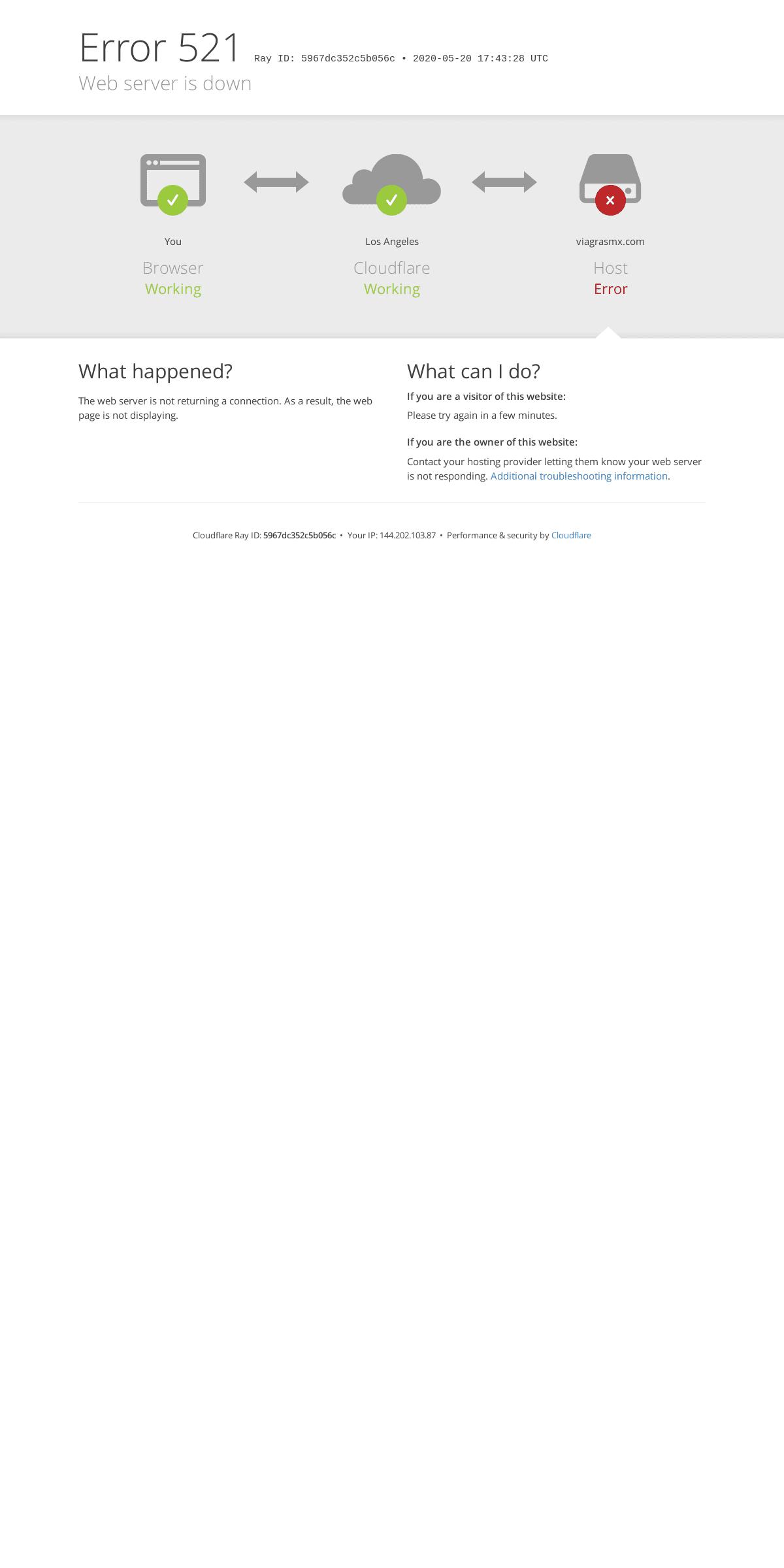 viagrasmx.com - 521- Web server is down