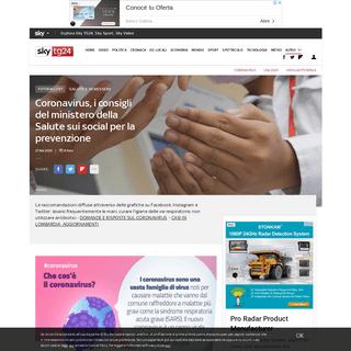 ArchiveBay.com - tg24.sky.it/salute-e-benessere/approfondimenti/foto/coronavirus-consigli-ministero-salute.html - Coronavirus, i consigli del ministero della Salute sui social per la prevenzione - Sky TG24