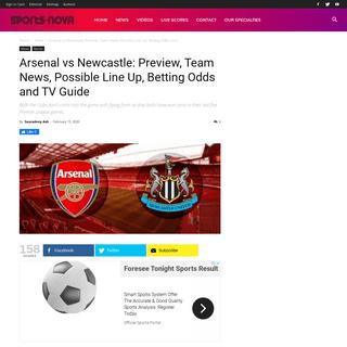 ArchiveBay.com - www.sports-nova.com/2020/02/15/arsenal-vs-newcastle-preview-team-news-possible-line-up-betting-odds-and-tv-guide/ - Arsenal vs Newcastle- Preview, Team News, Possible Line Up, Betting Odds and TV Guide