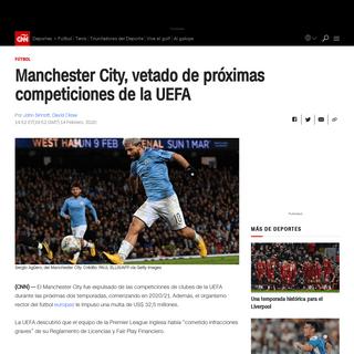 Manchester City, vetado de próximas competiciones de la UEFA - CNN