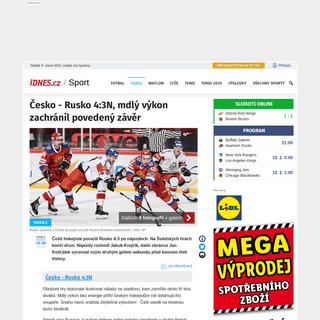 Česko - Rusko 4-3N, mdlý výkon zachránil povedený závěr - iDNES.cz
