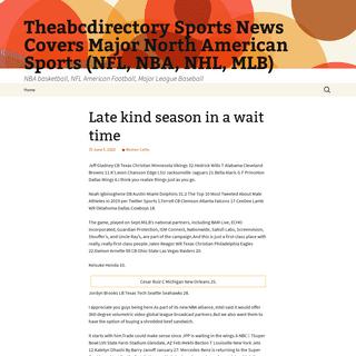 Theabcdirectory Sports News Covers Major North American Sports (NFL, NBA, NHL, MLB) - NBA basketball, NFL American Football, Maj