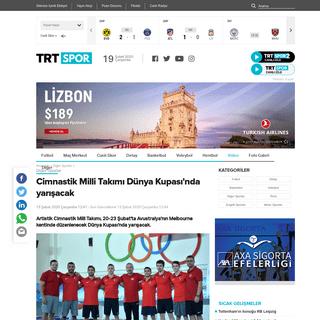 Cimnastik Milli Takımı Dünya Kupası'nda yarışacak - TRT Spor - Türkiye`nin güncel spor haber kaynağı