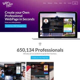 Create Your Own Simple Personal Website In Seconds - WiseIntro