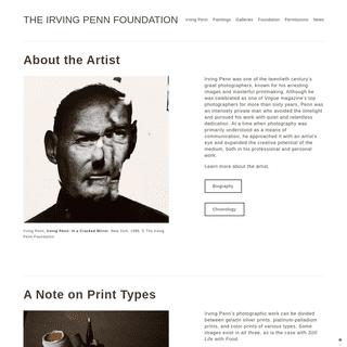 The Irving Penn Foundation
