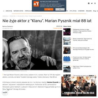 Nie żyje aktor z serialu Klan. Kim był Marian Pysznik- - naTemat.pl