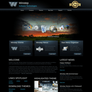 Winstep Software Technologies - Desktop Themes and Customizing Windows