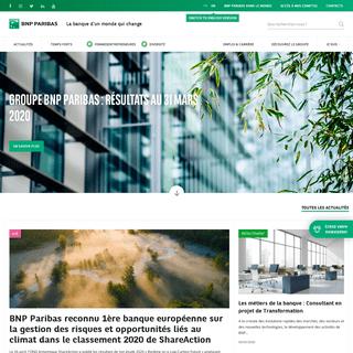 Banque BNP Paribas - La banque d'un monde qui change