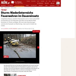 -Petra- - Sturm- Niederösterreichs Feuerwehren im Dauereinsatz - noen.at