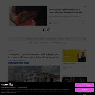 Coronavirus, i controlli all'azienda MAE di Fiorenzuola in provincia di Piacenza