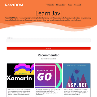 ReactDOM – The React Site.