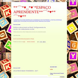--´¯`-♥¸¸-♥`-ESPAÇO APRENDENTE--´¯`-♥--´¯`-♥--
