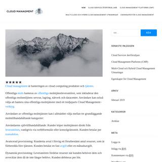 Cloud managment - Molntjänster