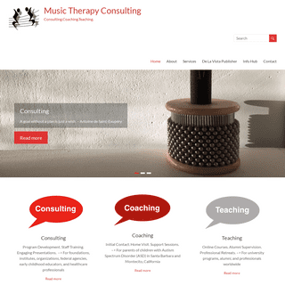 Music Therapy Consulting