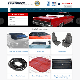 Convertible Tops, Headliners, OEM Seat Covers - TopsOnline