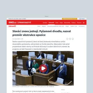 Slováci znovu jednají. Pyžamové divadlo, nazval premiér obstrukce opozice - iDNES.cz