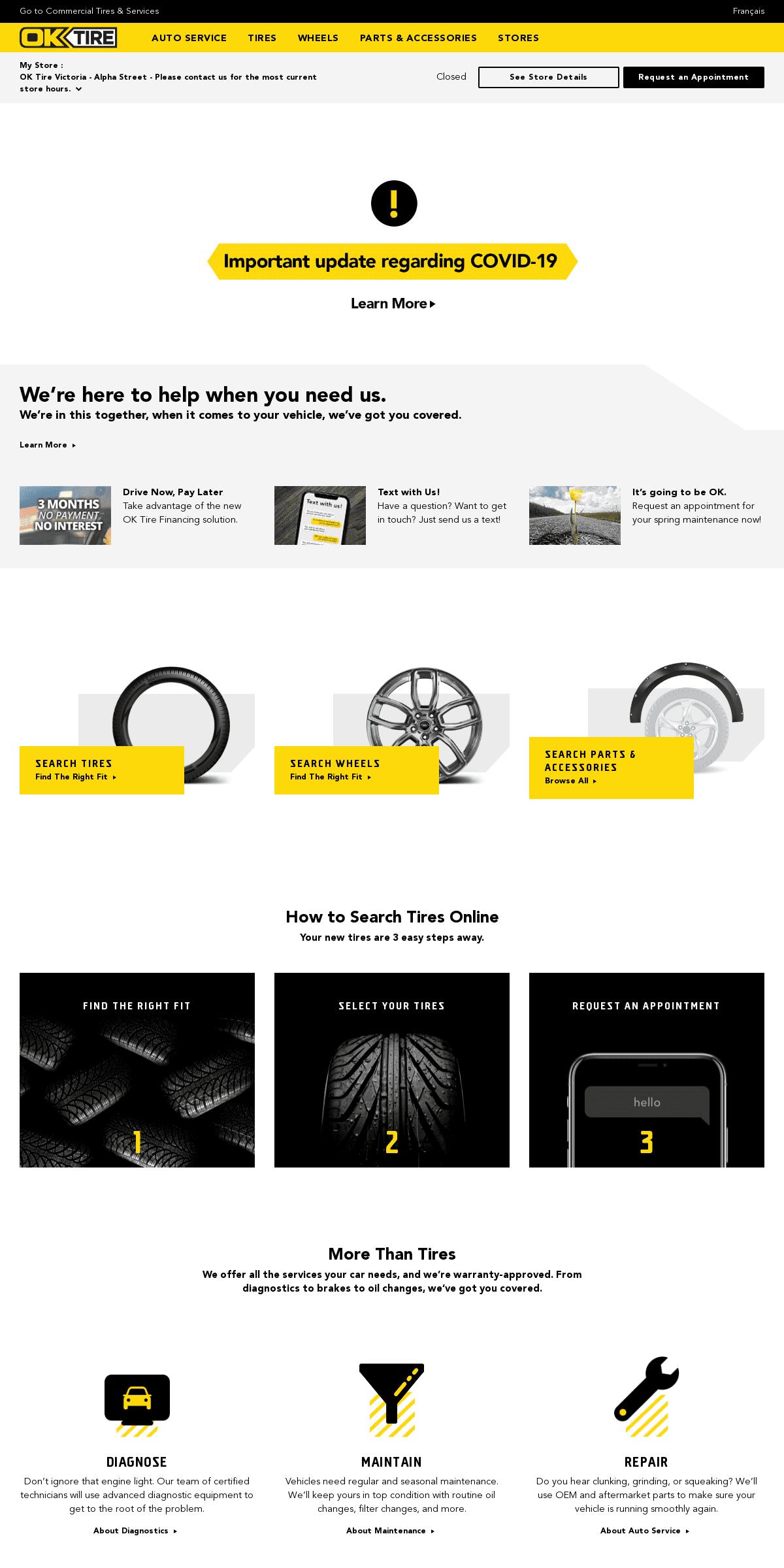ArchiveBay.com - oktire.com - Home Page - OK Tire - Tires - Auto Service - Brakes - Wheels - Oil Change